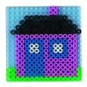 blíster 2 placas pegboards (cuadrada y redonda) para hama beads maxi