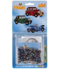 blister coches clásicos (2000 piezas y 1 placa pegboard) hama beads mini