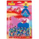 blister corazón y princesa (1100 piezas y 2 placas pegboards) hama beads midi