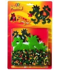 blister dragón (1100 piezas y 1 placa pegboard) hama beads midi