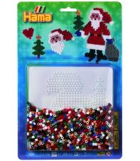 blister santa claus (1100 piezas y 1 placa pegboard) hama beads midi