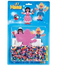 blister hada (1100 piezas y 1 placa pegboard) hama beads midi