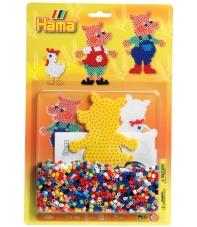 blister cerdo (1100 piezas y 1 placa pegboard) hama beads midi
