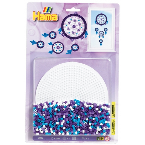 blister redonda (1100 piezas y 1 placa pegboard) hama beads midi