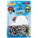blister corazón (1100 piezas y 1 placa pegboard) hama beads midi