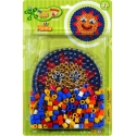 pack blister redonda (250 piezas y placa pegboard) hama beads maxi