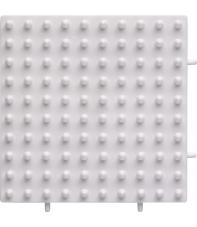 placa pegboard cuadrada 10 x 10 cm conectable para hama beads maxi