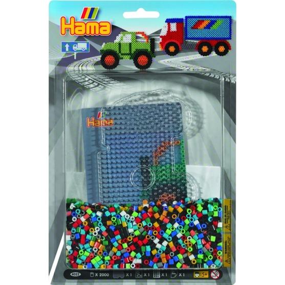 blister camión (2000 piezas y 1 placa pegboard) hama beads midi