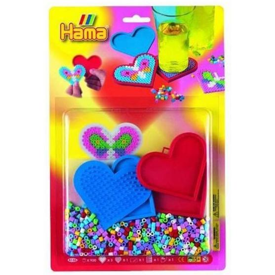 blister posavasos (900 piezas, 1 placa pegboard y 3 bases) hama beads midi