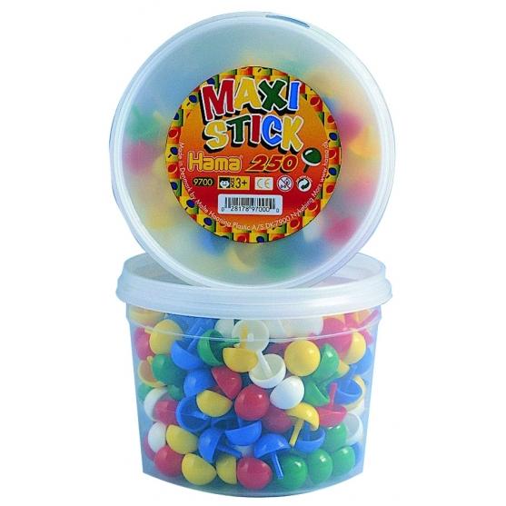 bote 250 piezas (9 colores) hama maxi stick