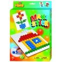 pack de inicio casa y flor (140 piezas y 1 placa pinboard) hama maxi stick