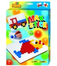pack de inicio pez y camión (140 piezas y 1 placa pinboard) hama maxi stick