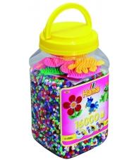 pack de inicio 16000 piezas y 3 placas pegboards hama beads midi