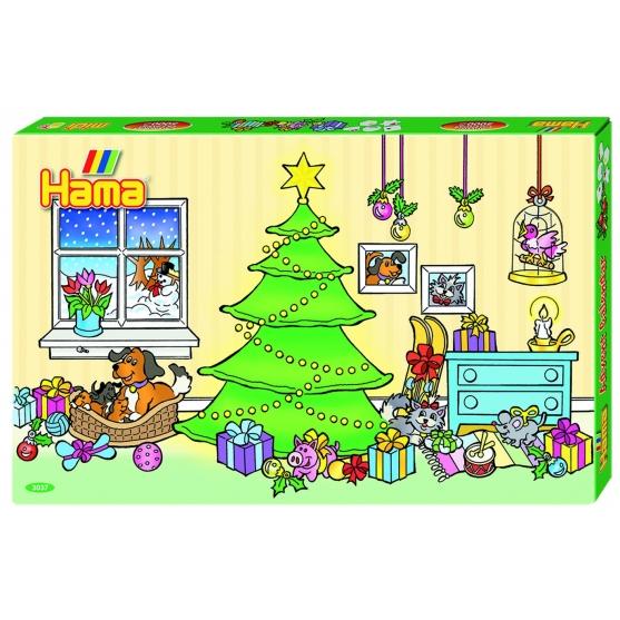 pack de inicio calendario de adviento (5000 piezas, 6 soportes y 5 placas pegboards) hama beads midi