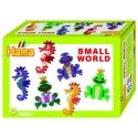 pack de inicio pequeño mundo caballito de mar y rana (2000 piezas y 2 placas pegboards) hama beads midi