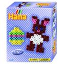 pack de inicio pascua (400 piezas y 1 placa pegboard) hama beads midi