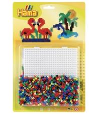 blister cuadrada (1100 piezas y 1 placa pegboard) hama beads midi