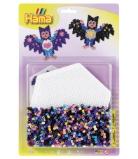 blister hexágono (1100 piezas y 1 placa pegboard) hama beads midi