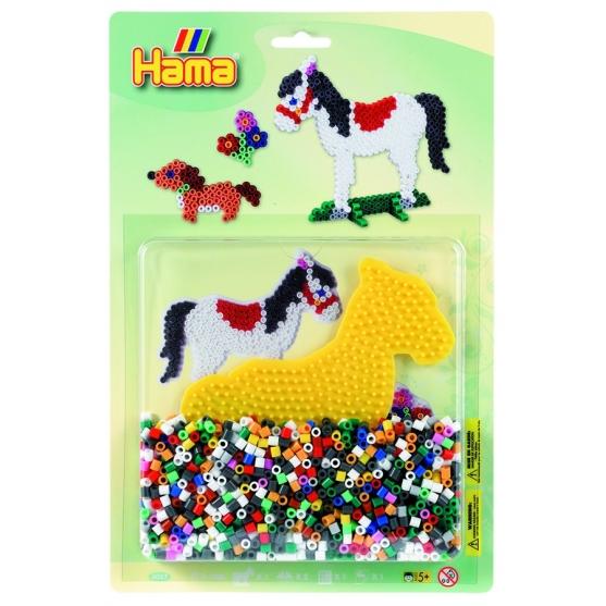 blister caballo (1100 piezas y 1 placa pegboard) hama beads midi