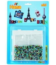blister ciudades (5000 piezas y 1 placa pegboard ) hama beads mini