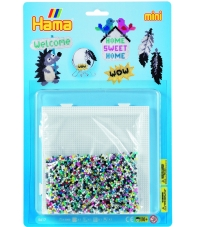 blister wow (5000 piezas y 1 placa pegboard ) hama beads mini