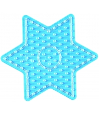 placa pegboard estrella para hama beads maxi