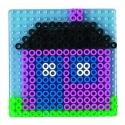 blíster 2 placas pegboards (estrella y redonda) para hama beads maxi