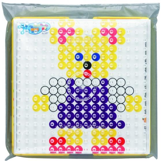 pack blister (placa, soporte y diseños) hama beads maxi