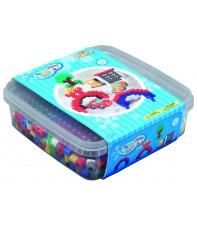 pack de inicio (600 piezas y 2 placas pegboards) hama beads maxi