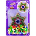 pack blister estrella (250 piezas y placa pegboard) hama beads maxi