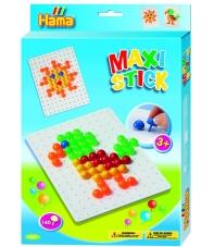 pack de inicio loro y sol (140 piezas y 1 placa pinboard) hama maxi stick