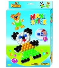 pack de inicio osito (140 piezas y 1 placa pinboard) hama maxi stick