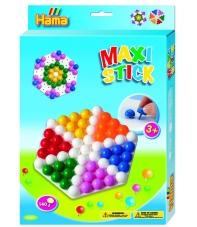 pack de inicio hexágono (140 piezas y 1 placa pinboard) hama maxi stick