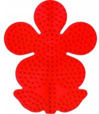 placa pegboard flor roja para hama beads midi