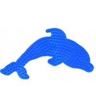 placa pegboard delfín azul para hama beads midi