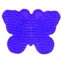 placa pegboard mariposa lila para hama beads midi