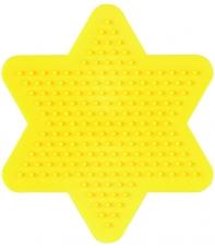 placa pegboard estrella amarilla 7 cm para hama beads midi