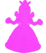 placa pegboard princesa rosa para hama beads midi