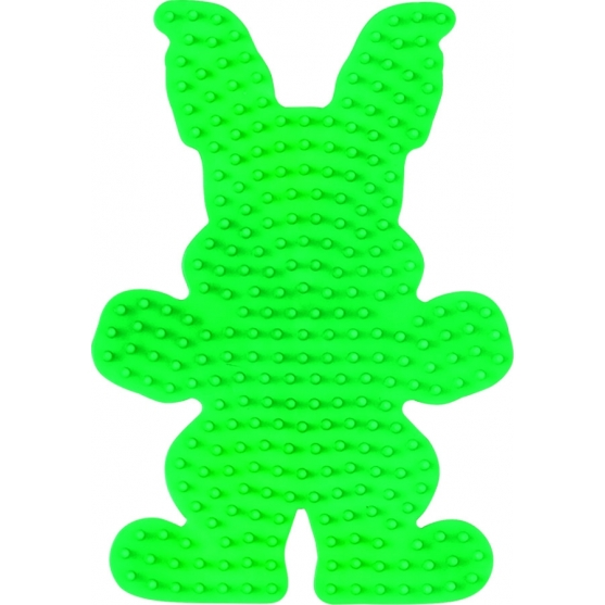 placa pegboard conejo verde para hama beads midi