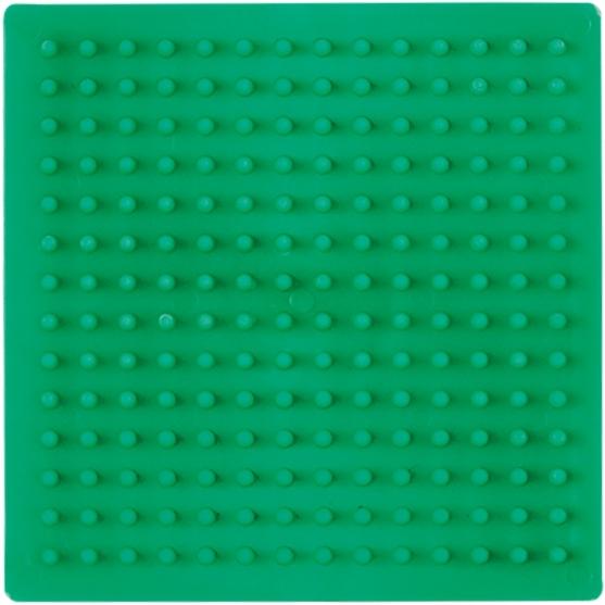 placa pegboard cuadrada verde 7x7 cm para hama beads midi