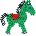blister bicolor poni (350 piezas y 1 placa pegboard) hama beads midi