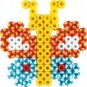 blister bicolor cuadrado (350 piezas y 1 placa pegboard) hama beads midi