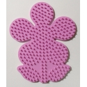 placa pegboard flor rosa para hama beads midi