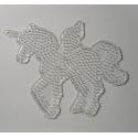 placa pegboard unicornio transparente para hama beads midi