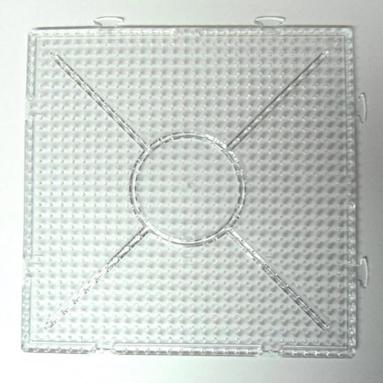 placa pegboard cuadrada trasparente 15 X15 cm conectable para nabbi y photopearls
