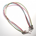 collares cuerda de cera con cierre mosquetón 43,5 cm hama beads
