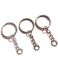 llavero anilla decorada con cadena hama beads