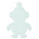 placa pegboard pingüino pequeño para hama beads midi