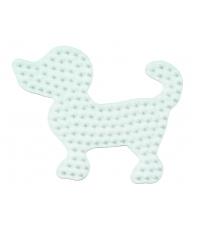 placa pegboard perro pequeño para hama beads midi