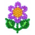 placa pegboard flor pequeña para hama beads midi